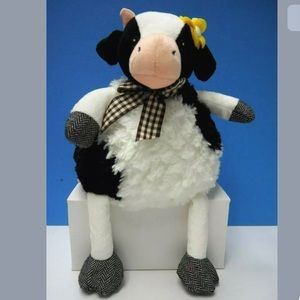 """Pier 1 Imports Plush Cow """"Isabelle""""Stuffed Toy 14"""""""